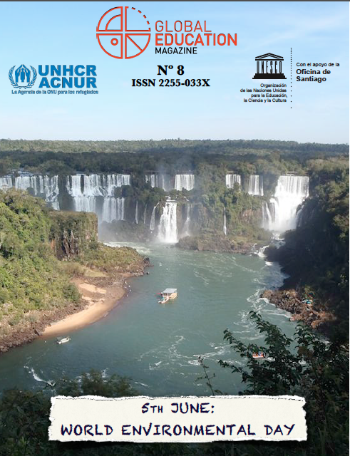 WORLD ENVIRONMENTAL DAY, GLOBAL EDUCATION MAGAZINE, MINI COVER, UNESCO, ACNUR