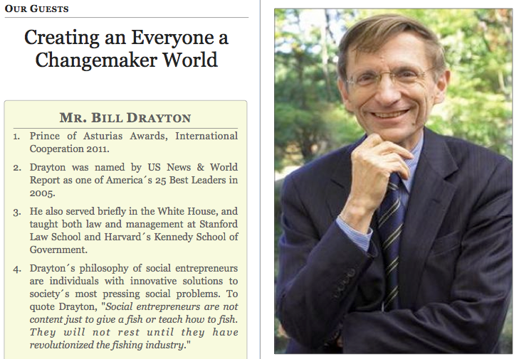 Bill Drayton, Global Education Magazine
