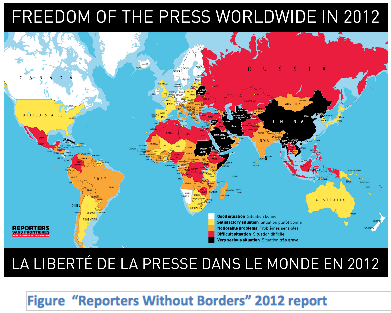 Freedom of the Press Worldwide 2012, Global Education Magazine