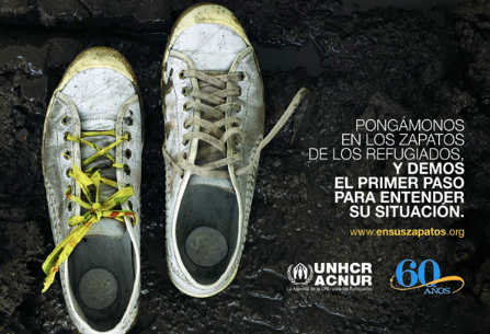 ACNUR:UNHCR shoes, Global Education Magazine