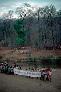 1. Anti-Bhopalpatnam dam rally, Hemalkasa, Maharashtra @ Ashish Kothari, Global Education Magazine