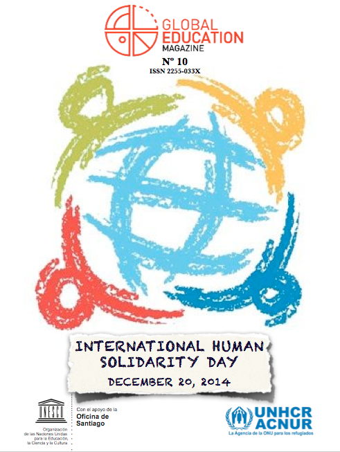 Global Education Magazine, International Human Solidarity Day, unesco, acnur, unhcr, cover