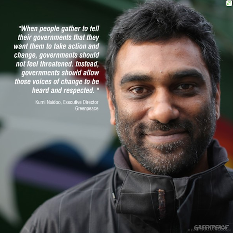 Kumi Naidoo, Greenpeace, global education magazine