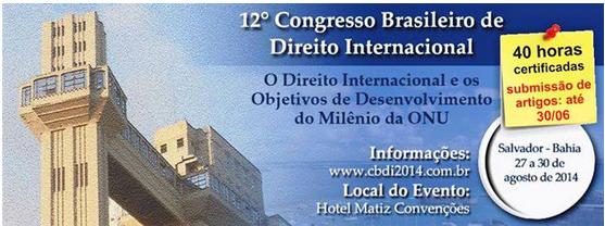 12 congresso brasileiro de direito internacional, global education magazine, UNESCO, UNHCR, ACNUR