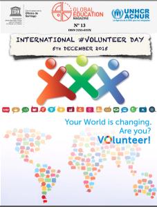 international volunteer day, global education magazine