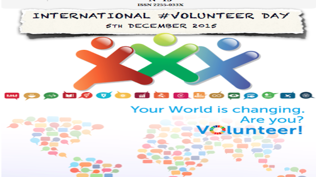 international volunteer day, global education magazine copy
