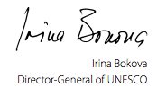 Irina Bokova, Director-General of UNESCO, global education magazine, education for sustainable development,