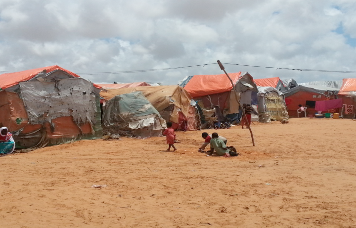 Fig 2. Al Cadaala camp IDP, Mogadishu, photo by Ifrah Ahmed, global education magazine