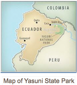 Map of Yasuni State Park, global education magazine