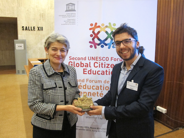 UNESCO Director General, Irina Bokova, Global Education Magazine, Javier Collado Ruano, global citizenship education