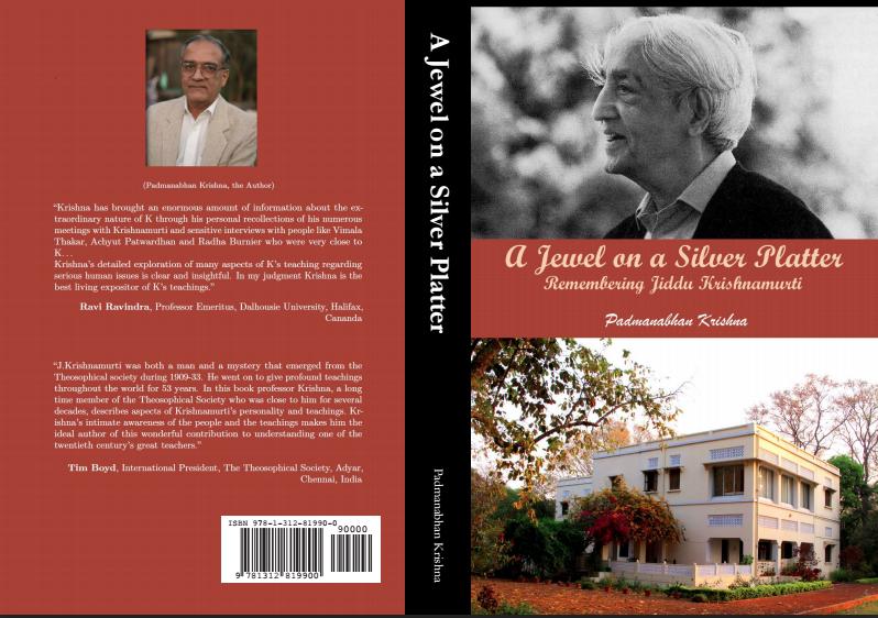 Book Review, A Jewel on a Silver Platter, Remembering Jiddu Krishnamurti