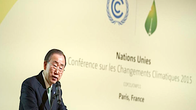 ban ki moon, cop21, Climate Resilience Initiative