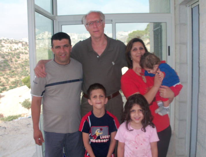 Richard Forer with friends in Beit Sahour, Global Education Magazine