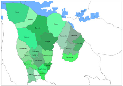 Map Of Kamuli  District With Names Of Subcounties Global Education Magazine