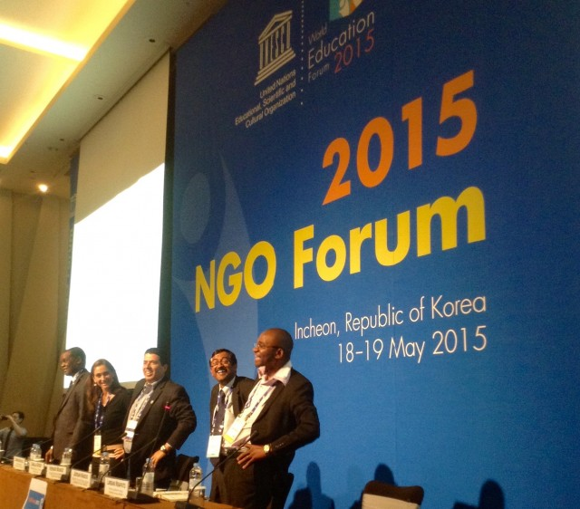 2015 NGO Forum world education forum