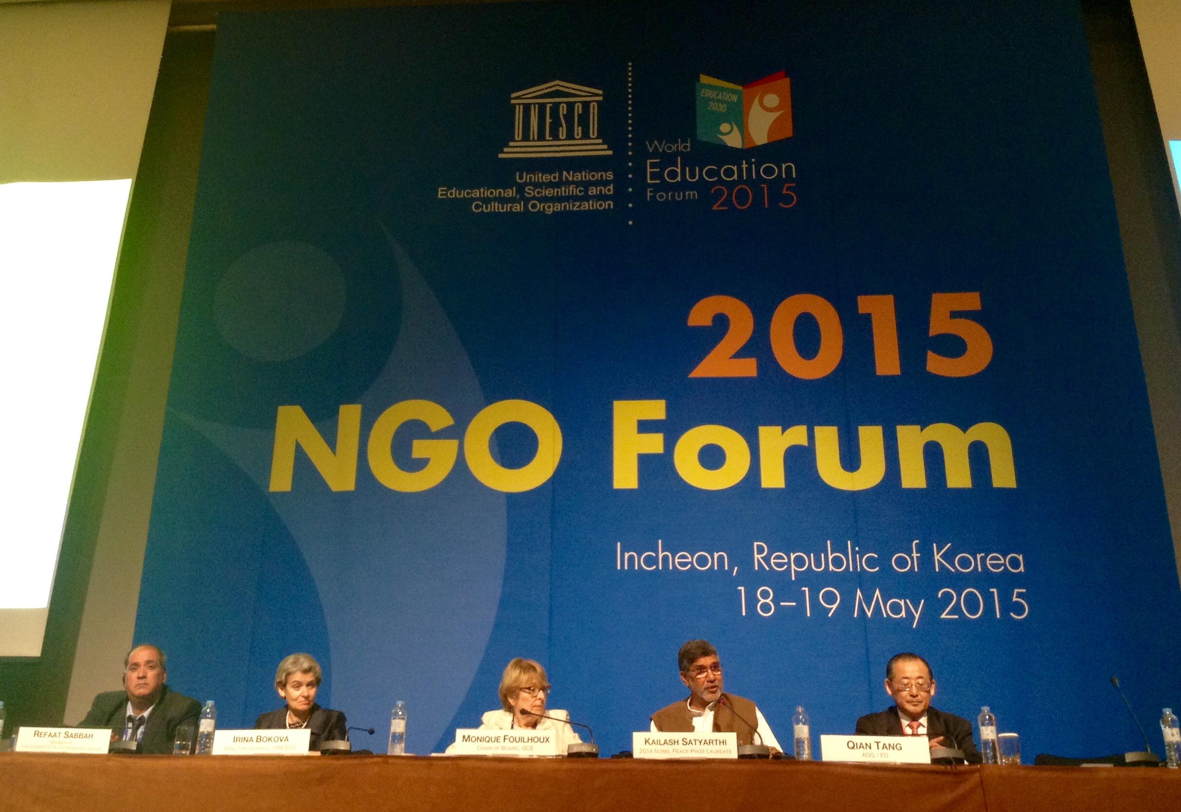 NGO world education forum 2015