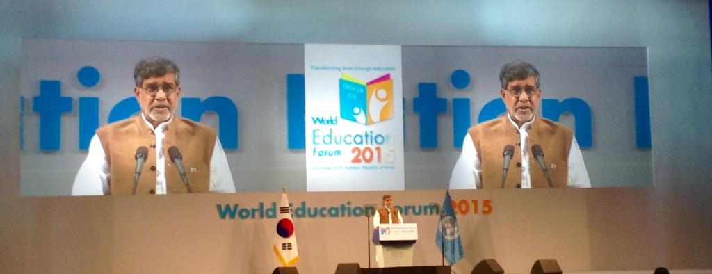 world education forum2015, Kailash Satyarthi, 2014 peace nobel award