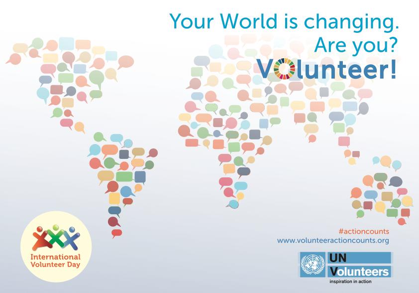 international volunteer day, UNV